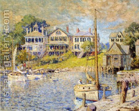 At Edgartown, Martha's Vinyard by Colin Campbell Cooper - Reproduction Oil Painting