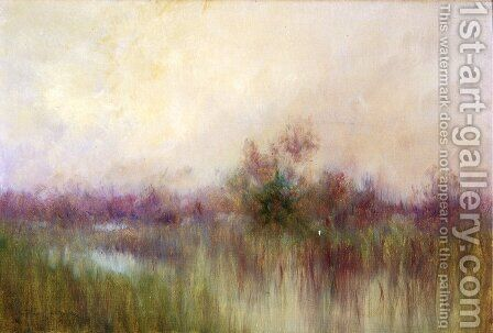 Early Morning ini a Louisiana Marsh by Alexander John Drysdale - Reproduction Oil Painting