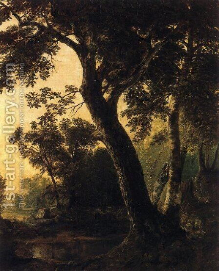Study of Trees, Marbletown, N.Y. by Asher Brown Durand - Reproduction Oil Painting