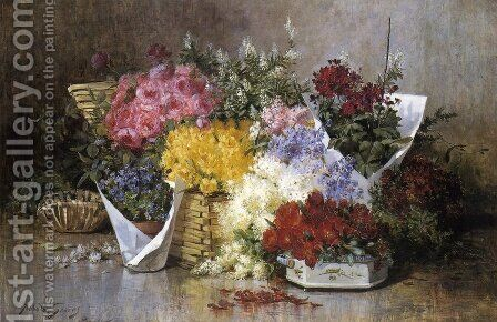Floral Still Life by Abbott Fuller Graves - Reproduction Oil Painting