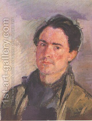 Self-Portrait by Armando Spadini - Reproduction Oil Painting