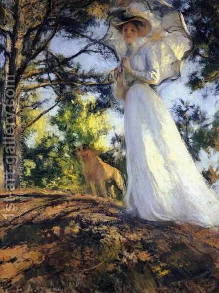 On Bos'n's Hill by Edmund Charles Tarbell - Reproduction Oil Painting