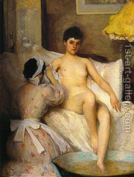 The Bath by Edmund Charles Tarbell - Reproduction Oil Painting