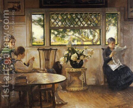 Mother, Mercie, and Mary by Edmund Charles Tarbell - Reproduction Oil Painting