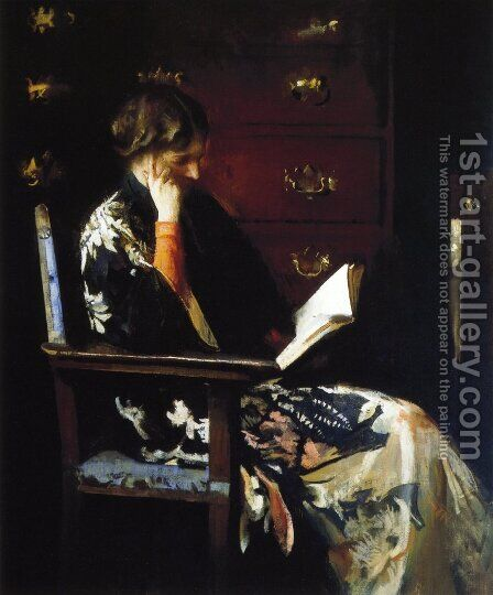 Mary Reading by Edmund Charles Tarbell - Reproduction Oil Painting