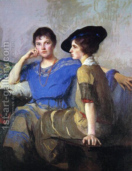 The Sisters by Edmund Charles Tarbell - Reproduction Oil Painting