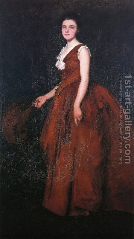 A Portrait by Edmund Charles Tarbell - Reproduction Oil Painting