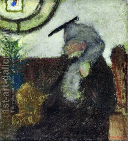 The Comb by Edouard  (Jean-Edouard) Vuillard - Reproduction Oil Painting