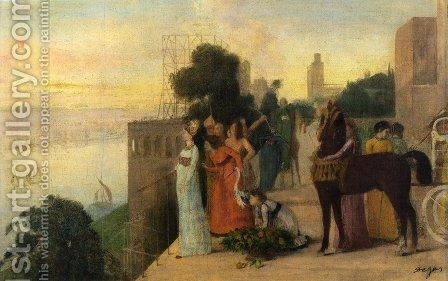 Semiramis Building a City by Edgar Degas - Reproduction Oil Painting