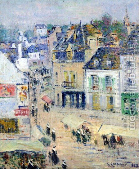 Pont-Aven, Grey Weather by Gustave Loiseau - Reproduction Oil Painting