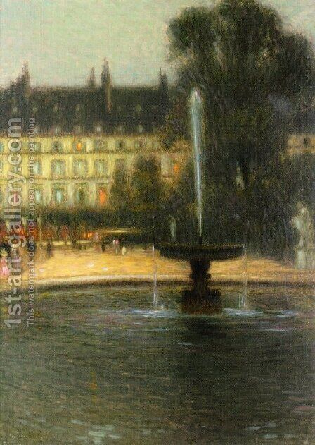 The Tuilleries by Henri Eugene Augustin Le Sidaner - Reproduction Oil Painting