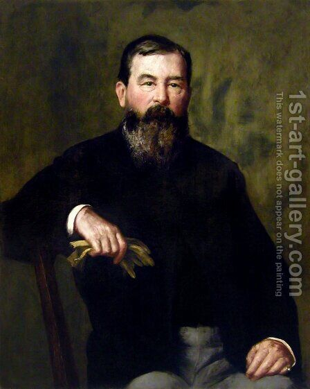 Portrait of a Bearded Gentleman by Henry Oliver Walker - Reproduction Oil Painting