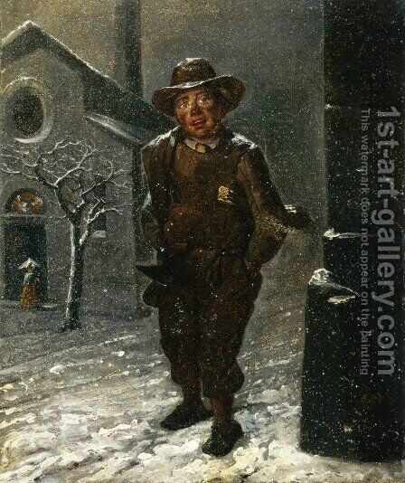 The Chimney Sweep by Angelo Inganni - Reproduction Oil Painting
