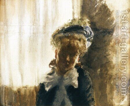 Face by Giuseppe de Nittis - Reproduction Oil Painting