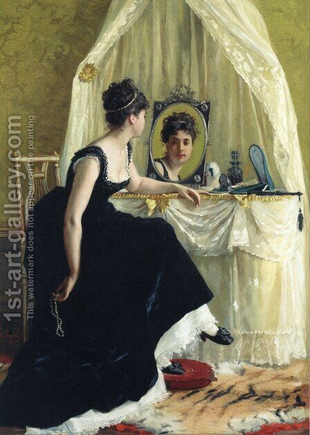 Vanity by Gustave Leonhard de Jonghe - Reproduction Oil Painting