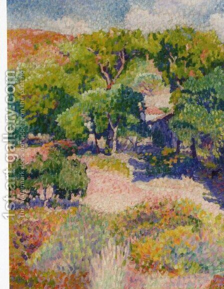 Cypresses by Henri Edmond Cross - Reproduction Oil Painting