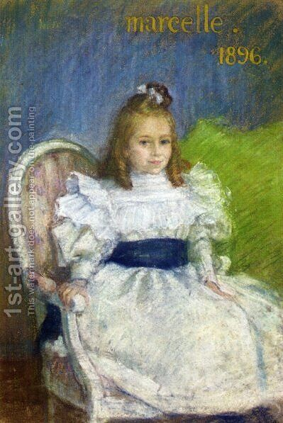 Portrait of Marcelle Mezieres, Nine Years Old by Henri Lebasque - Reproduction Oil Painting