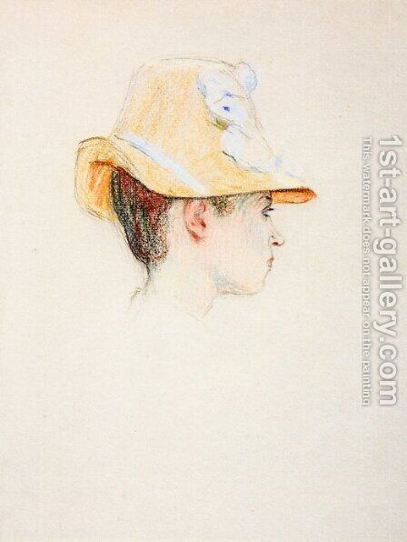 Woman with a Hat by Claude Emile Schuffenecker - Reproduction Oil Painting