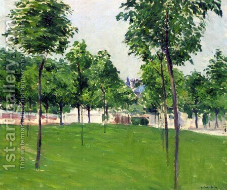 Promenade at Argenteuil by Gustave Caillebotte - Reproduction Oil Painting