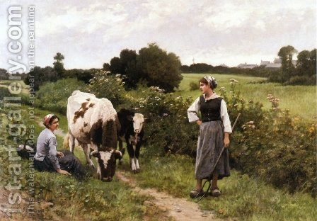 A Rest along the Way by Edouard Bernard Debat-Ponsan - Reproduction Oil Painting