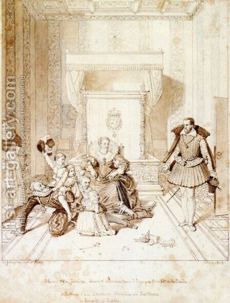 Henry IV Playing with His Children by Jean Auguste Dominique Ingres - Reproduction Oil Painting