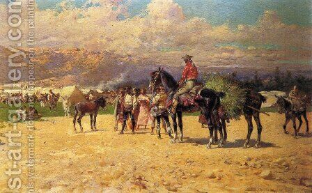 The Counrty Fair by Baldomer Galofre Giménez - Reproduction Oil Painting