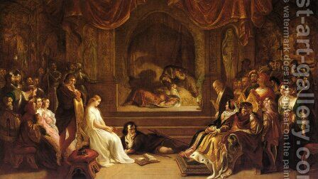The Play Scene from Hamlet by Daniel Maclise - Reproduction Oil Painting