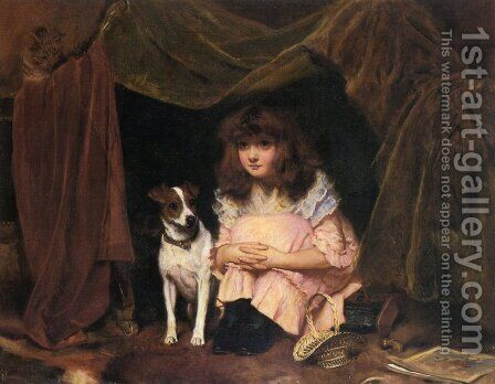 The Hiding Place by Charles (Burton) Barber - Reproduction Oil Painting
