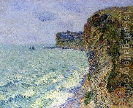 Grainville Cliff near Fecamp by Gustave Loiseau - Reproduction Oil Painting
