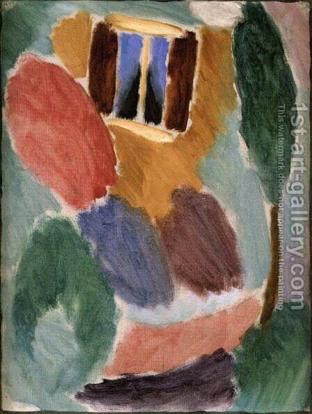 Variation: Studio Window by Alexei Jawlensky - Reproduction Oil Painting
