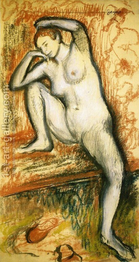 Nude Study of a Dancer by Edgar Degas - Reproduction Oil Painting