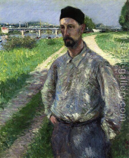 Portrait of Eugene Lamy by Gustave Caillebotte - Reproduction Oil Painting