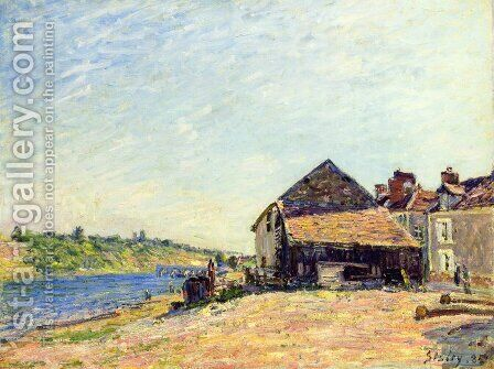 Saint-Mammes II by Alfred Sisley - Reproduction Oil Painting