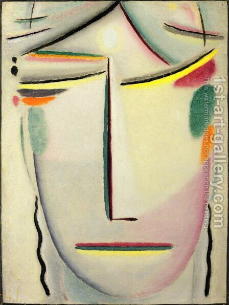 "Heilandsgesicht: Kopf ""Lichte Ruhe"" by Alexei Jawlensky - Reproduction Oil Painting"