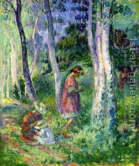 In the Forest, the Harvest by Henri Lebasque - Reproduction Oil Painting