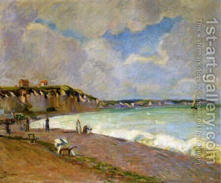 la Manche Landscape by Armand Guillaumin - Reproduction Oil Painting