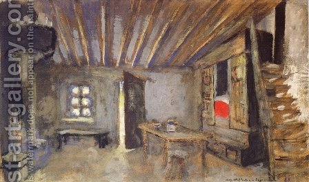 Studio Interior, Model for the Scenery of 'La Lepreuse' by Edouard  (Jean-Edouard) Vuillard - Reproduction Oil Painting