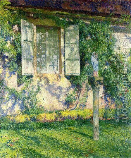 The Facade of Marquayrol by Henri Martin - Reproduction Oil Painting