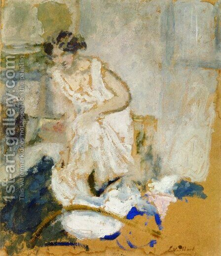 Study of a Woman in a Petticoat by Edouard  (Jean-Edouard) Vuillard - Reproduction Oil Painting