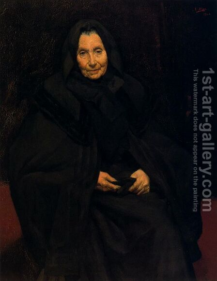Madre del pintor by Ignacio Diaz Olano - Reproduction Oil Painting