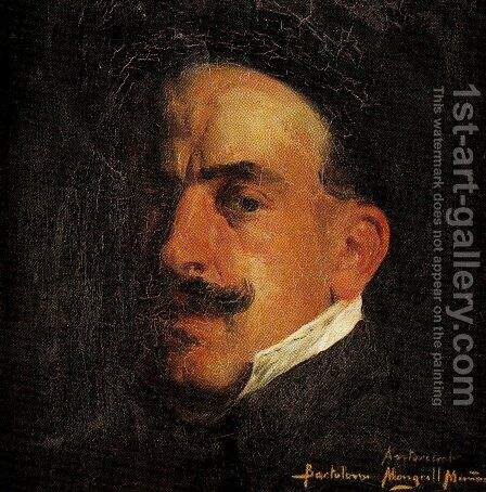 Autorretrato by Bartolome Mongrell Munoz - Reproduction Oil Painting