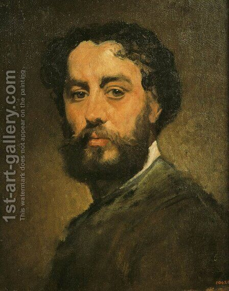 Autorretrato by Antonio Caba y Casamitjana - Reproduction Oil Painting