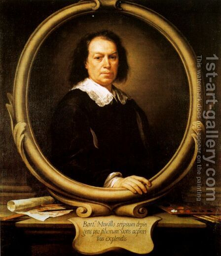 Autorretrato by Bartolome Esteban Murillo - Reproduction Oil Painting