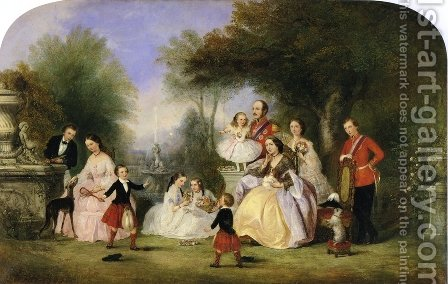 The Royal Family by Henry Andrews - Reproduction Oil Painting