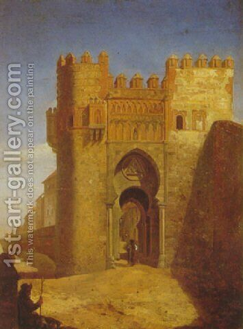 Toledo: Puerta del Sol by Cecilio Pizarro - Reproduction Oil Painting