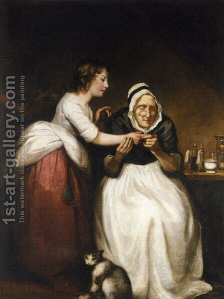 The Village Doctress by James Northcote, R.A. - Reproduction Oil Painting