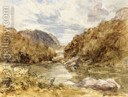 Pont-Y-Pair, near Bettwys-Y-Coed, North Wales by David Cox - Reproduction Oil Painting