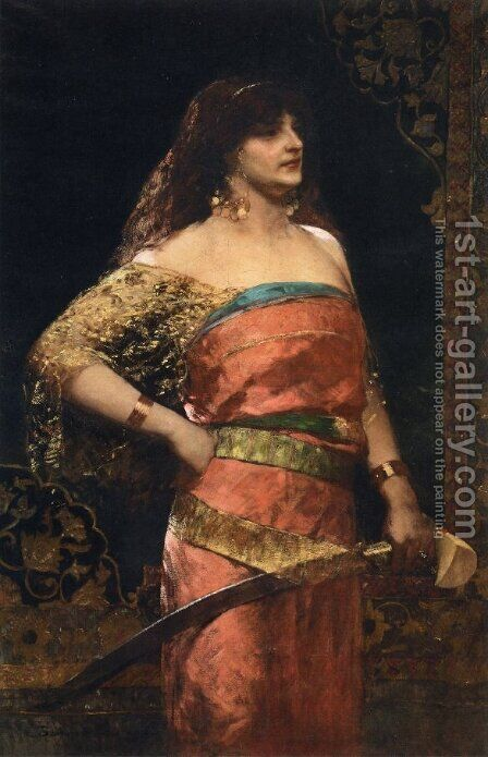 Judith by Benjamin Jean Joseph Constant - Reproduction Oil Painting