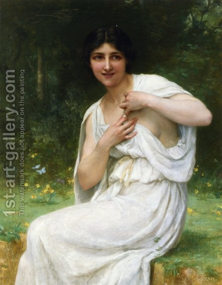 Preparing for the Bath by Guillaume Seignac - Reproduction Oil Painting