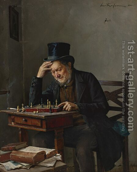 The Chess Player by Isidor Kaufmann - Reproduction Oil Painting